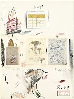 Cy Twombly, Natural history, part I: Mushrooms, no. V, 1974