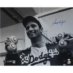 Steiner Sports Sandy Koufax Autographed No Hitter 4-Ball Photograph