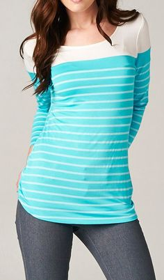 Anderson Top in Greek Turquoise