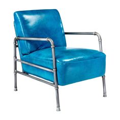 Royce Club Chair Blue   Products   MOE'S Wholesale