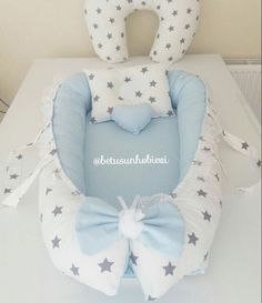 Ulsan Interior Teddy Company / Baby soon … - Nahen Baby Nest Pattern, Baby Patterns, Quilt Baby, Baby Nest Bed, Baby Embroidery, Baby Sewing Projects, Baby Couture, Baby Pillows, Baby Steps