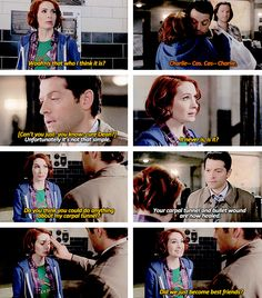 [GIFSET] 10x18 Book of the Damned #Charlie #Cas #MeetCute