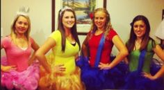 Costume party.. took a bit to make the tutu's but was worth it... Mario characters
