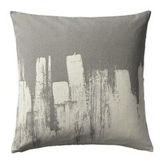 IKEA SLÖJGRAN Cushion cover Grey/beige cm The zipper makes the cover easy to remove. Cushion Pads, Cushion Covers, Pillow Covers, Cushions Ikea, Kallax Shelf Unit, Ikea Shopping, Living Room Seating, Grey And Beige, Decoration Design