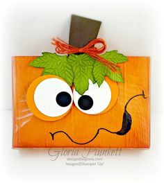 An online community for art stampers and scrapbookers Halloween Cards, Halloween Treats, Holidays Halloween, Halloween Face, Halloween Decorations, Halloween Cookies, Halloween Treat Holders, Acetate Cards, Cute Pumpkin