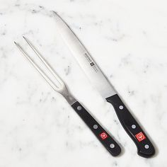 2-Piece Wüsthof ® Gourmet Carving Set | Crate and Barrel