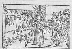 Histori von den vier Kaufleuten, München, Staatsbibl., 4 Inc.s.a. 1036 Nürnberg 1494