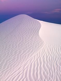 White Sands, New Mexico. This place is absolutely serene! Sand is white as snow and was cold when you  walked on it.  We were visiting John and Donna in Alamagordo, N.M. Like nothing I've ever seen before! ME TOO! LT
