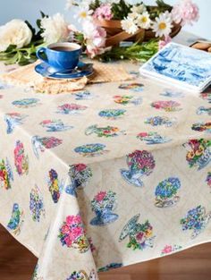 Genuine Oilcloth Tablecloths: Wipe Clean Real Fabric That Wonu0027t Peel Or  Crack