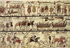 Several scenes from the Bayeux Tapestry, a historical record of the conquest of England by William the Conqueror of Normandy.  #Bayeur Tapestry #Understanding Comics#Visual Narrative