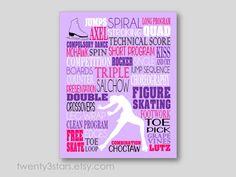 Figure Skating Typography Art Print Perfect Girl's by twenty3stars