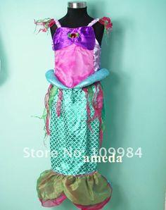 Free Shipping - Girls ARIEL MERMAID DRESS Costume / Carnival / Cosplay / Halloween Szie 6-8Y $12.02