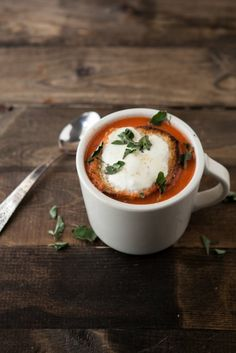 30 Days of Food, Day 27: Roasted Tomato Soup - Use plant based milk/ cream and vegan mozzarella