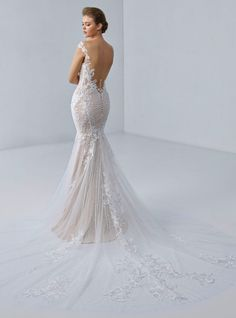 Baroque, Lingerie Look, Bridal Wardrobe, Tulle, Mermaid Gown, Chantilly Lace, On Your Wedding Day, Elegant, Floral Lace