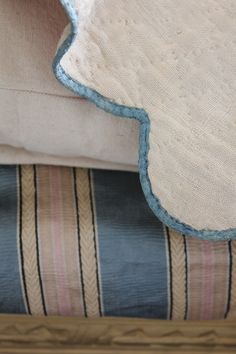 French antique textiles layered