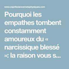 Pourquoi les empathes tombent constamment amoureux du « narcissique blessé »: la raison vous surprendra La Raison, Conscience, Videos Funny, Good To Know, Positivity, Coaching, Attitude, Trouble, Stay Strong