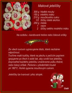 Czech Recipes, Christmas Baking, Food And Drink, Eat, Essen, Christmas Cookies
