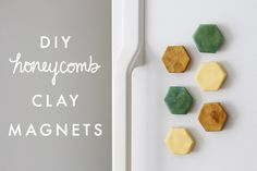 DIY Honeycomb Clay Magnets - Earl Grey | A Crafty Design & Lifestyle Blog