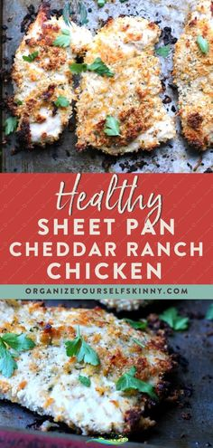 Healthy Baked Cheddar Ranch Chicken - Organize Yourself Skinny Cheddar Ranch Baked Crispy Chicken Recipe (Boneless)   Easy Meal Prep Recipes - If you love cheddar cheese, ranch & chicken, you're going to love this chicken breast recipe! This recipe is a healthy alternative, easy to make, and crispy! These are even perfect for freezer meals, clean eating & meal prep! Click through for the full recipe for an easy dinner recipe for the family! Organize Yourself Skinny #chickenrecipe… Easy Meal Prep, Easy Weeknight Meals, Easy Meals, Freezer Meals, Crispy Chicken Recipes, Healthy Chicken, Skinny Chicken, Baked Chicken, Ranch Chicken