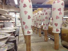 Emma Bridgewater Pink Hearts Small Milk Bottles 2014
