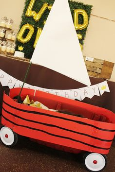 Wagon from a Where the Wild Things Are Birthday Party