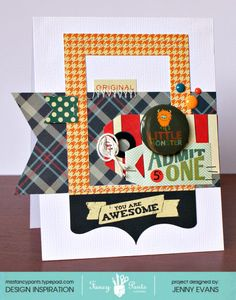 You Are Awesome - Scrapbook.com  This card was created for Fancy Pants Designs using the Be Different collection.