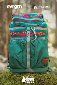 evrgrn and Pendleton have teamed up to create this limited-edition, #REImember exclusive daypack that sports a sawtooth Pendleton pattern. The evrgrn kickback pack is perfect for roaming the city or hitting a new trail. Shop now.