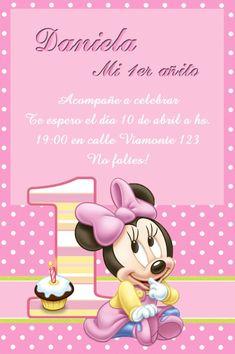Kit Imprimible Minnie Mouse Bebe - Tarjetas - Cajitas Y Mas - $ 26,00 en MercadoLibre
