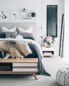 The beautiful Scandinavian inspired bedroom of Tarina Lyell from Oh Eight Oh Nine