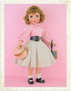 Gorgeous And RARE Maggie Teenager With Pristine Tagged Original Outfit c.1950!
