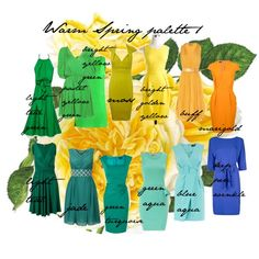 Warm Spring palette 1, created by carolgrant on Polyvore