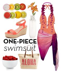 """""""Aloha! #onepieceswimsuit"""" by evelyngrace16 ❤ liked on Polyvore featuring Kate Spade, Cosabella, Leona Lengyel, Etro, The Cellar, Rip Curl and onepieceswimsuit"""