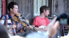 """Ketch Secor & Willie Watson of Old Crow Medicine Show playing """"Waterbound"""" on the VA Folklife Workshop Porch at FloydFest X. Old Crow Medicine Show, Deer Running, Musicals, Porch, Singing, Workshop, Top, Balcony, Atelier"""