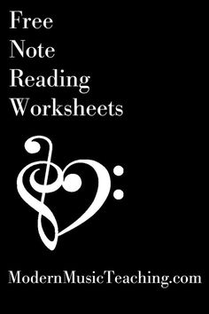 Free Music Theory Note Reading Worksheets from http://ModernMusicTeaching.com