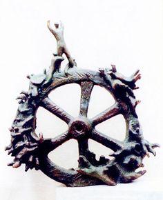 #Bronze #sculpture by #sculptor Zakir Ahmedov titled: 'Fortuna (Small bronze…
