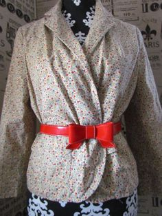 Vintage 70s Calico Boho Blazer Jacket by glamtownvintage on Etsy, $14.92