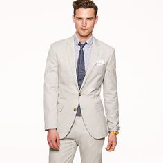 LUDLOW TWO-BUTTON SUIT JACKET WITH CENTER VENT IN FINE-STRIPE COTTON    $278.00 item 16899  Lightweight and cool in specially yarn-dyed cotton with a very subtle stripe. Ludlow, our most modern silhouette with a... More