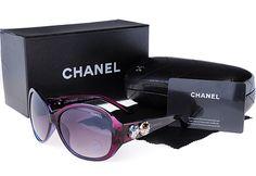 Chanel purple sunglasses.