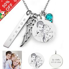 Angel Wings - Photo Necklace Sterling Silver