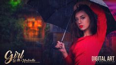 Today I will show you how to create photo manipulation with colorful lights and rain effects in Photoshop. Enjoy!
