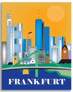 Frankfurt wall art is available in an array of finishes, materials, and sizes…