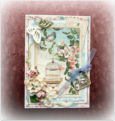 Cardmaking, cards, card Secret garden