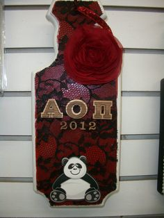 lace paddle -> my Chapter made this! Epsilon Gamma <3