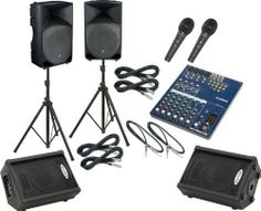 Yamaha MG102C / Thump TH-15A Mains & Monitors Package by Yamaha. $999.99. A complete PA package featuring the Yamaha MG102C mixer, a pair of Mackie TH-15A Active loudspeakers, a pair of Kustom KPC10M monitors and an accessories package. Accessories include a pair of low-impedance microphones, a pair of standard speaker stands, four 20' XLR cables, and a pair of TRS cables.Yamaha MG102CThe Yamaha 10-Input stereo mixer offers audio quality that will satisfy the most critical listen...