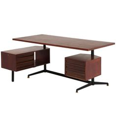 Mid Century Retro Vintage Early 1950s Executive Desk by Osvaldo Borsani in Rosewood | Pinned by 360 Modern Furniture