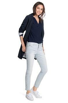 Esprit : Pantalón tobillero elástico a rayas en la Online-Shop