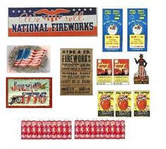 Fourth Of July Printables by Pinwheels Folly's Dollar Store Dollhouse, via Flickr