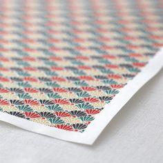 友禅紙 菊青海波 グリーンレッド 2枚入 - WACCA ONLINESHOP Washi, Japanese, Paper, Cards, Style, Swag, Japanese Language, Maps, Playing Cards