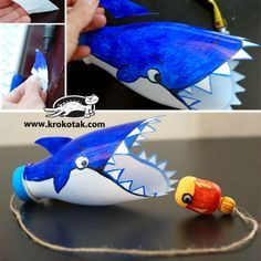 25 Plastic Bottle Crafts for Kids – Play Ideas Kids Crafts, Zoo Crafts, Recycled Crafts Kids, Animal Crafts For Kids, Diy For Kids, Preschool Crafts, Arts And Crafts, Sea Animal Crafts, Crafts From Recycled Materials