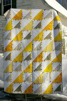 yellow and grey lady of the lake quilt
